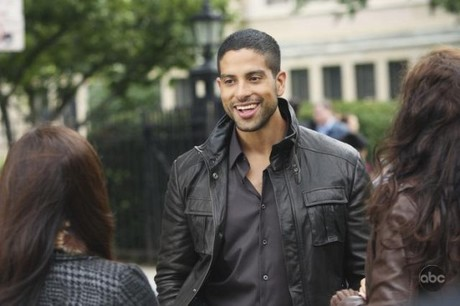 Adam Rodriguez on set UB